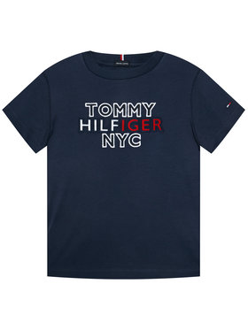 TOMMY HILFIGER TOMMY HILFIGER T-Shirt Th Nyc Graphic Tee KB0KB05848 D Tmavomodrá Regular Fit