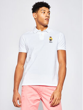 Polo Ralph Lauren Polokošeľa Logo Embroidery 710792901 Biela Custom Slim Fit