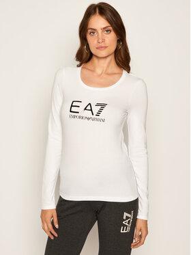 EA7 Emporio Armani EA7 Emporio Armani Bluzka 6HTT35 TJ12Z 102 Biały Regular Fit