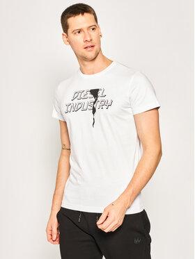 Diesel Diesel T-shirt T-Diego-J25 00SDNX 0091A Blanc Regular Fit