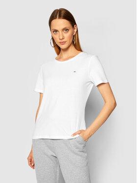 Tommy Jeans Tommy Jeans T-Shirt Tjw C Neck DW0DW09194 Bílá Slim Fit