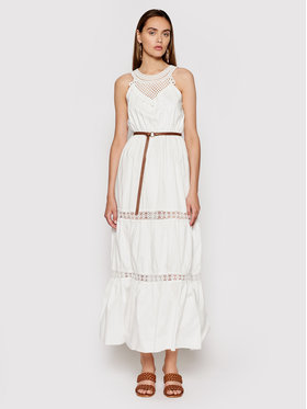 Rinascimento Rinascimento Sukienka letnia CFC0103508003 Biały Regular Fit