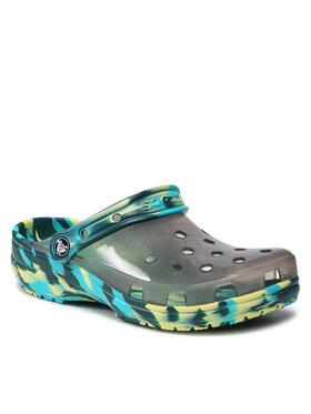 Crocs Crocs Παντόφλες Classic Translucent Marbled Clog 207407 Πράσινο