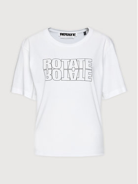 ROTATE ROTATE Marškinėliai Aster Tee RT443 Balta Loose Fit
