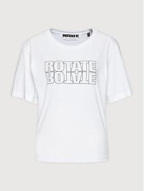 ROTATE ROTATE Tričko Aster Tee RT443 Biela Loose Fit