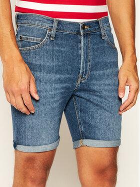 Lee Lee Džínsové šortky Bermuda L73FMGFN Modrá Slim Fit