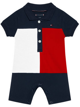 Tommy Hilfiger Tommy Hilfiger Body Baby Colorblock Polo KN0KN01284 Granatowy Regular Fit
