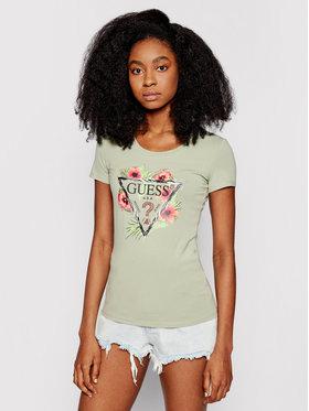 Guess Guess T-Shirt Rebecca W1GI0N J1311 Zielony Slim Fit