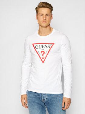 Guess Guess Marškinėliai ilgomis rankovėmis M1RI31 I3Z11 Balta Slim Fit
