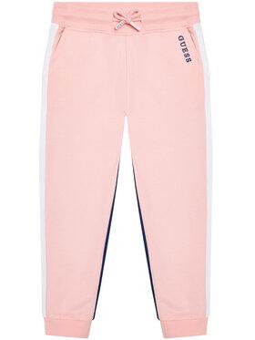 Guess Guess Teplákové kalhoty K1RQ01 KA6R0 Růžová Regular Fit