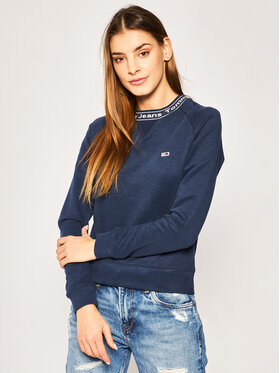 Tommy Jeans Tommy Jeans Džemperis Branded DW0DW07964 Tamsiai mėlyna Regular Fit