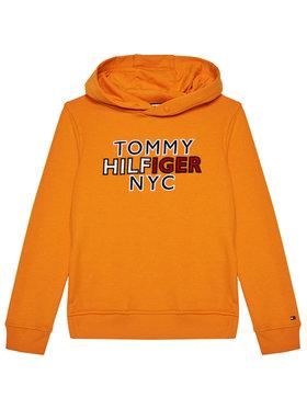 Tommy Hilfiger Tommy Hilfiger Bluza Th Nyc Graphic Hoodie KB0KB05808 D Pomarańczowy Regular Fit