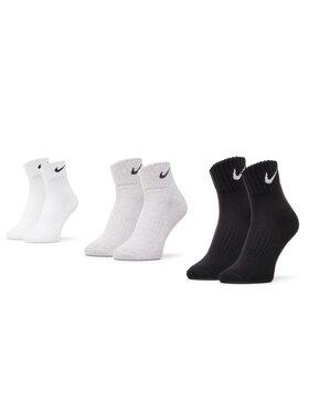 NIKE NIKE Комплект 3 чифта къси чорапи унисекс SX4926 901 Черен