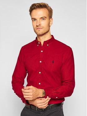 Polo Ralph Lauren Polo Ralph Lauren Риза Slbdppcs 710804257011 Червен Slim Fit