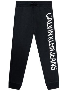 Calvin Klein Jeans Calvin Klein Jeans Долнище анцуг Stretch Slim IB0IB00674 Черен Regular Fit