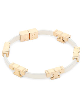 Tory Burch Tory Burch Armband Serif-T Stackable Bracelet 80706 Beige