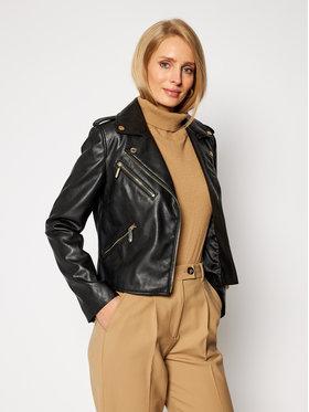 Trussardi Jeans Trussardi Jeans Μπουφάν δερμάτινο 56S00516 Μαύρο Regular Fit