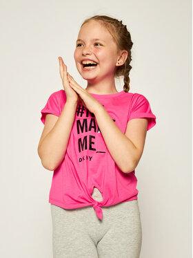 DKNY DKNY T-Shirt D35Q72 M Růžová Regular Fit