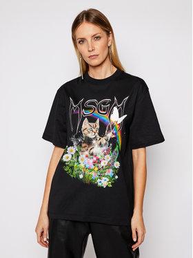 MSGM MSGM T-shirt 3041MDM164 217298 Noir Regular Fit