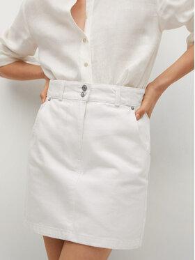 Mango Mango Spódnica jeansowa Marion 17050106 Biały Regular Fit