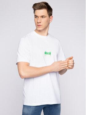 MSGM MSGM T-Shirt 2840MM238 207098 01 Bílá Regular Fit