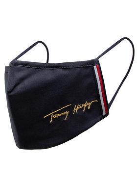 Tommy Hilfiger Tommy Hilfiger Masque en tissu Spww Seasonal Face Cover AW0AW102950 Bleu marine