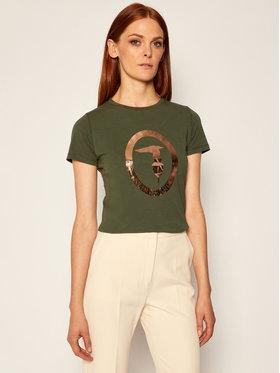 Trussardi Jeans Trussardi Jeans Marškinėliai 56T00280 Žalia Regular Fit