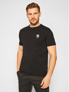 KARL LAGERFELD KARL LAGERFELD T-Shirt Crewneck 755027 502221 Czarny Regular Fit