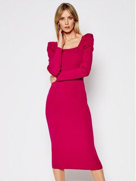 My Twin My Twin Sukienka dzianinowa 202MP3055 Różowy Slim Fit