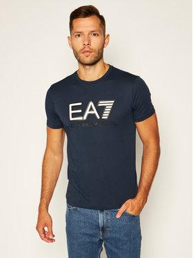 EA7 Emporio Armani EA7 Emporio Armani T-Shirt 6HPT81 PJM9Z 0554 Granatowy Regular Fit