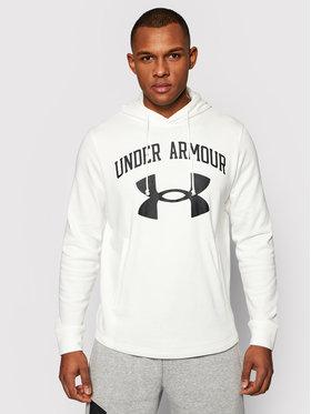 Under Armour Under Armour Džemperis Rival Terry Big Logo 1361559 Balta Loose Fit