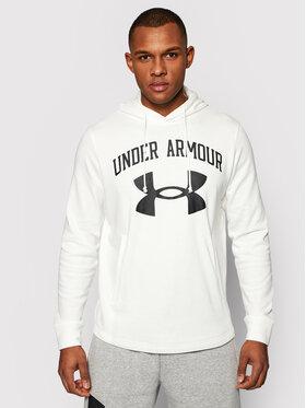 Under Armour Under Armour Majica dugih rukava Rival Terry Big Logo 1361559 Bijela Loose Fit