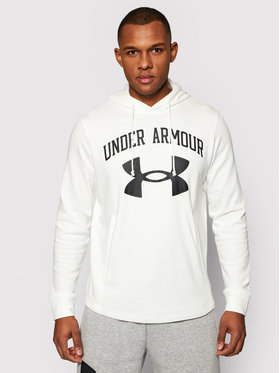 Under Armour Under Armour Суитшърт Rival Terry Big Logo 1361559 Бял Loose Fit