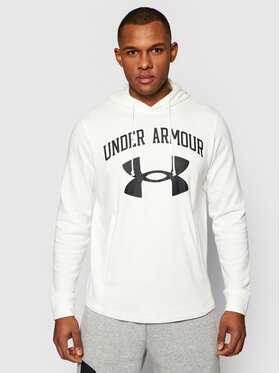 Under Armour Under Armour Sweatshirt Rival Terry Big Logo 1361559 Weiß Loose Fit