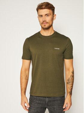 Calvin Klein Calvin Klein T-Shirt Chest Logo K10K103307 Grün Regular Fit