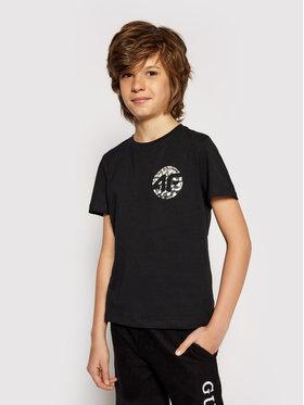 4F 4F Marškinėliai HJL21-JTSM012B Juoda Regular Fit