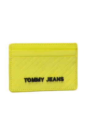 Tommy Jeans Tommy Jeans Etui na karty kredytowe Cc Holder Emboss Patent AW0AW10831 Zielony