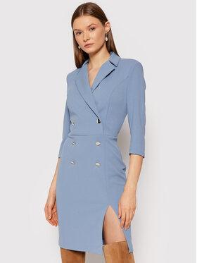 Rinascimento Rinascimento Koktejlové šaty CFC0105023003 Modrá Slim Fit