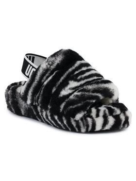 Ugg Ugg Chaussons W Fluff Yeah Slide Zebra 1112248 Noir