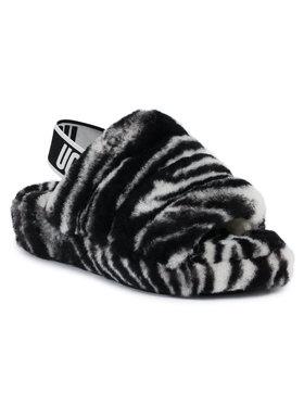 Ugg Ugg Kapcie W Fluff Yeah Slide Zebra 1112248 Czarny
