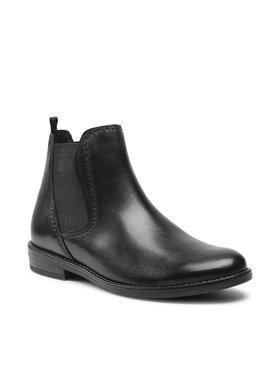 Marco Tozzi Marco Tozzi Členková obuv s elastickým prvkom 2-25366-27 Čierna
