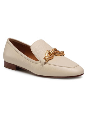 Tory Burch Tory Burch Lordsy Jessa 20mm Loafer 60801 Beżowy