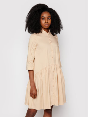 Imperial Imperial Košeľové šaty AA7PBBE Béžová Reguular Fit