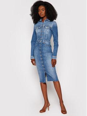 Guess Guess Džinsinė suknelė Sexy Lola W1YK49 D46AC Mėlyna Slim Fit
