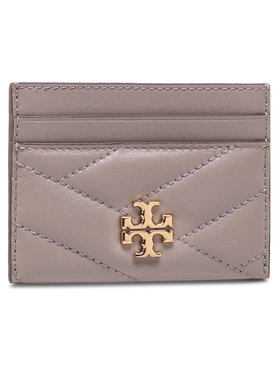 Tory Burch Tory Burch Custodie per carte di credito Kira Chevron Card Case 56815 Grigio