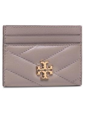 Tory Burch Tory Burch Kreditinių kortelių dėklas Kira Chevron Card Case 56815 Pilka