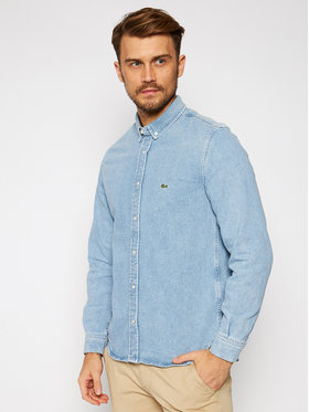 Lacoste Lacoste Košile CH3124 Modrá Regular Fit