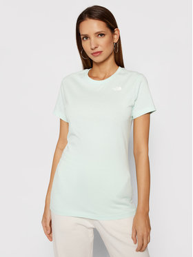 The North Face The North Face T-shirt Simple Dome NF0A4T1A Zelena Regular Fit