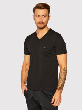 Calvin Klein Calvin Klein T-Shirt Logo Embroidery K10K103672 Czarny Regular Fit
