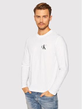 Calvin Klein Jeans Calvin Klein Jeans Marškinėliai ilgomis rankovėmis J30J316472 Balta Regular Fit